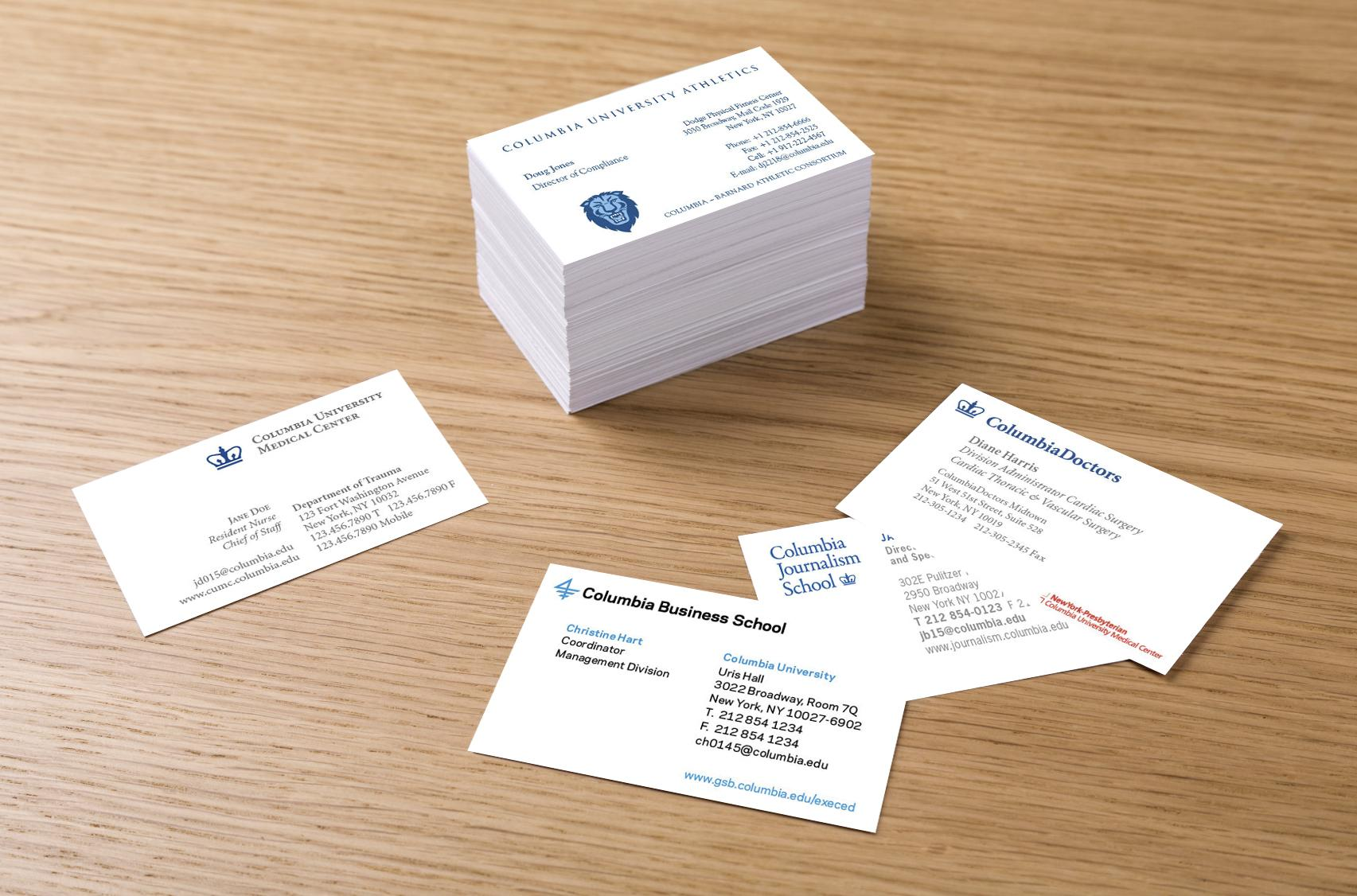 Business cards columbia print business card samples colourmoves Image collections